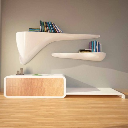 Modern designhylla producerad i Italien, Sizzano