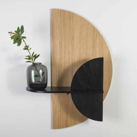 Modern designhylla i ek och svartlackerad plywood - Arabien