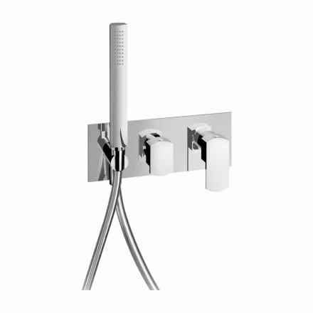 Modern inbyggd duschblandare i mässing tillverkad i Italien - Sika
