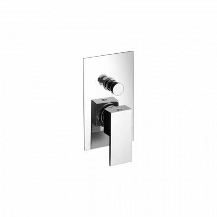 Inbyggd dusch- eller badkarblandare Modern design tillverkad i Italien - Panela