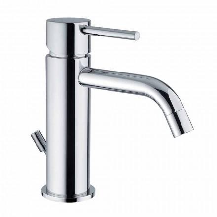 Tvättställsblandare i förkromad mässing Modern design tillverkad i Itlay - Liro