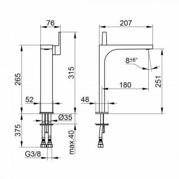 Modern Design Single Hand Mixer för handfat utan avlopp - Etto