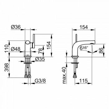 Modern 1-greppsblandare för handfat utan metallavlopp - Pinto