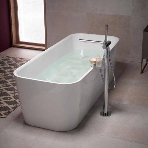 Modern 1-grepps badkarblandare med duschhuvud av metall - Pinto