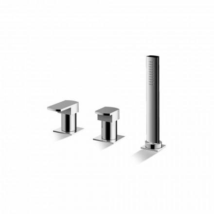 Förkromad 3-håls badkarblandare tillverkad i Italien - Sika