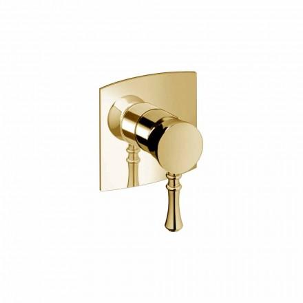 Inbyggd duschblandare i mässing Modern design tillverkad i Italien - Neno