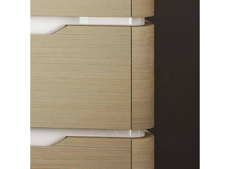 Badrumsskåp med 3 lådor moderna Arya trä, gjorda i Italien