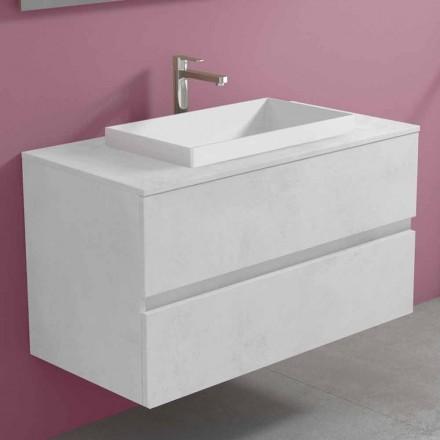 Badrumsskåp med inbyggt handfat, modern upphängd design - Casimira