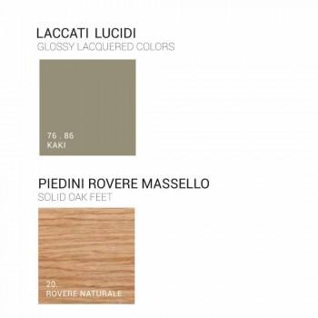 Badrumsskåp med handfat i lackat trä 120x85x46cm Amber, tillverkat i Italien