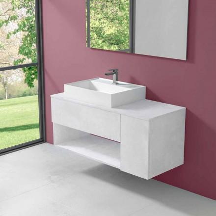 Upphängt badrumsskåp med bänkskiva i modern stil - Pistillo