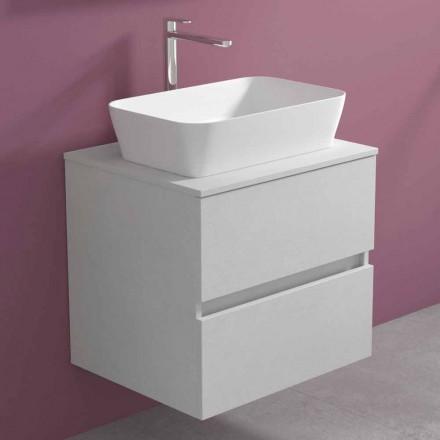 Upphängt badrumsskåp med rektangulär tvättställ, modern design - Dumbo