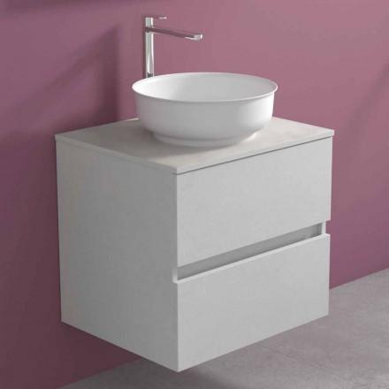 Upphängt badrumsskåp med rund tvättställ, modern design - Dumbo