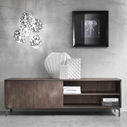 Modernt TV-skåp Två dörrar Melaminträ tillverkat i Italien - Clemente