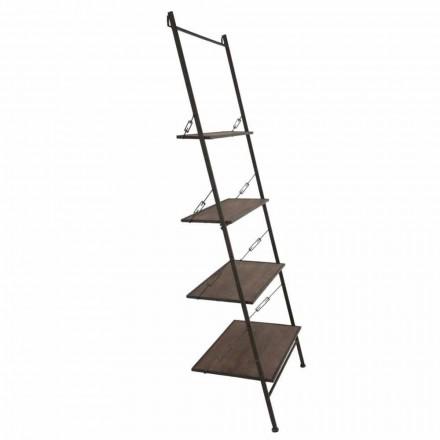 Trä- och metallskåp i modern design i industriell stil - Denes