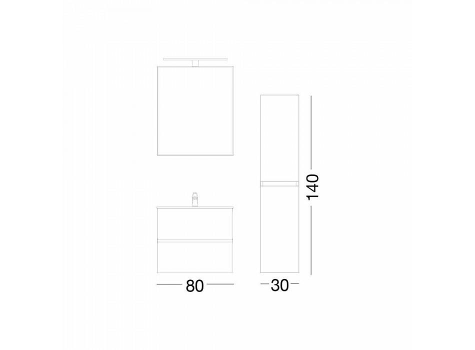 Hängande badrumsmöbler i Mdf lackerat tillverkat i Italien - Becky