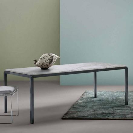 Mitt hem Bebop designbord vit marmor H74xL210cm gjord i Italien