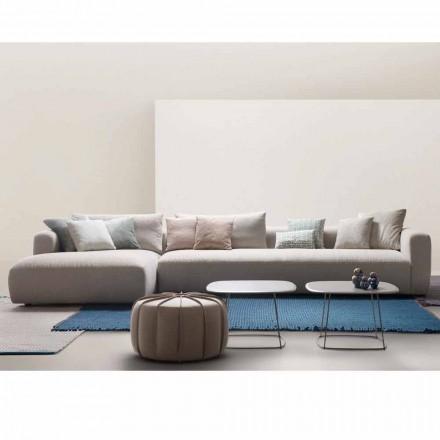 My Home Soft sectional design soffa tillverkad i Italien tyg