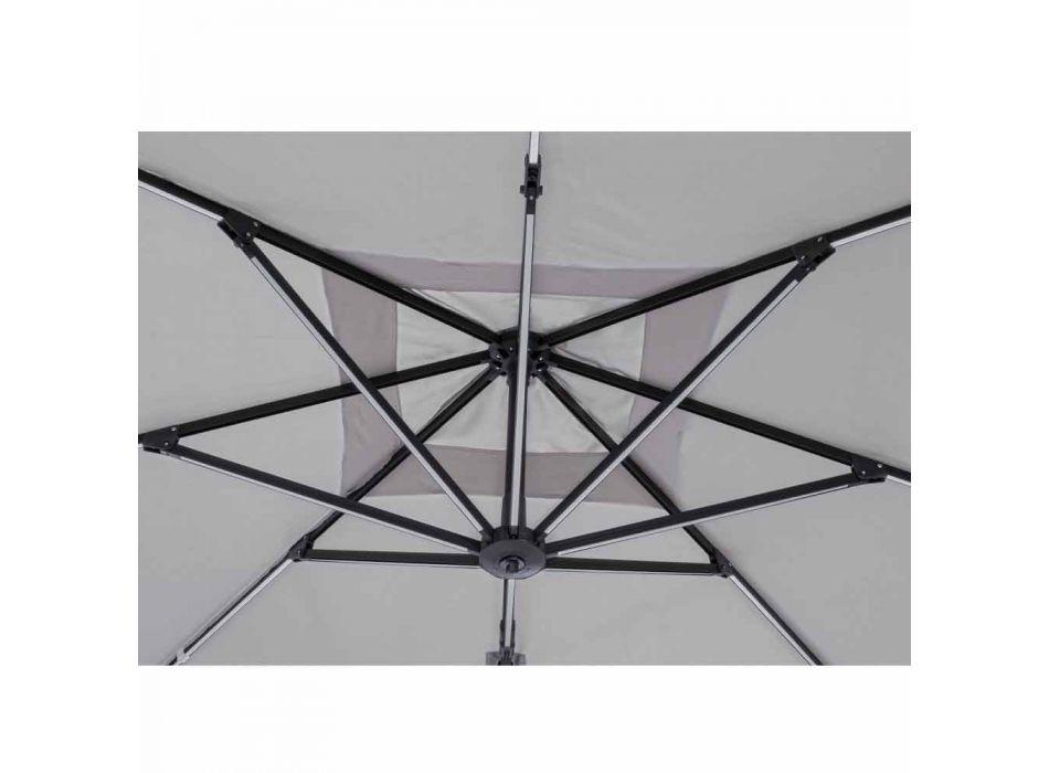 3x3 utomhusparaply i grå polyester och antracitfärgad aluminium - Coby