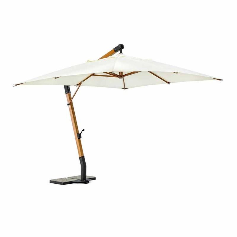 Ecrù Color Outdoor Paraply i polyester och trä 3x4 Homemotion - Passmore
