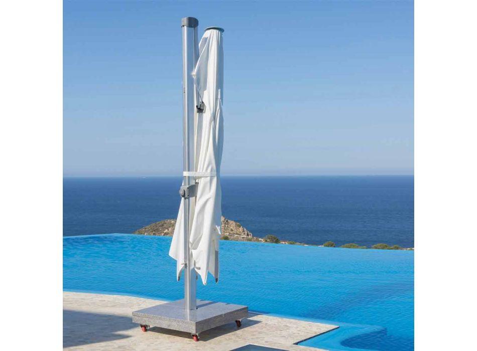 Vattenavvisande utomhusparaply med 3x4 granitbas - Zeus av Talenti