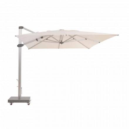 3x4 vattenavvisande utomhusparaply med aluminiumstolpe - Zeus av Talenti