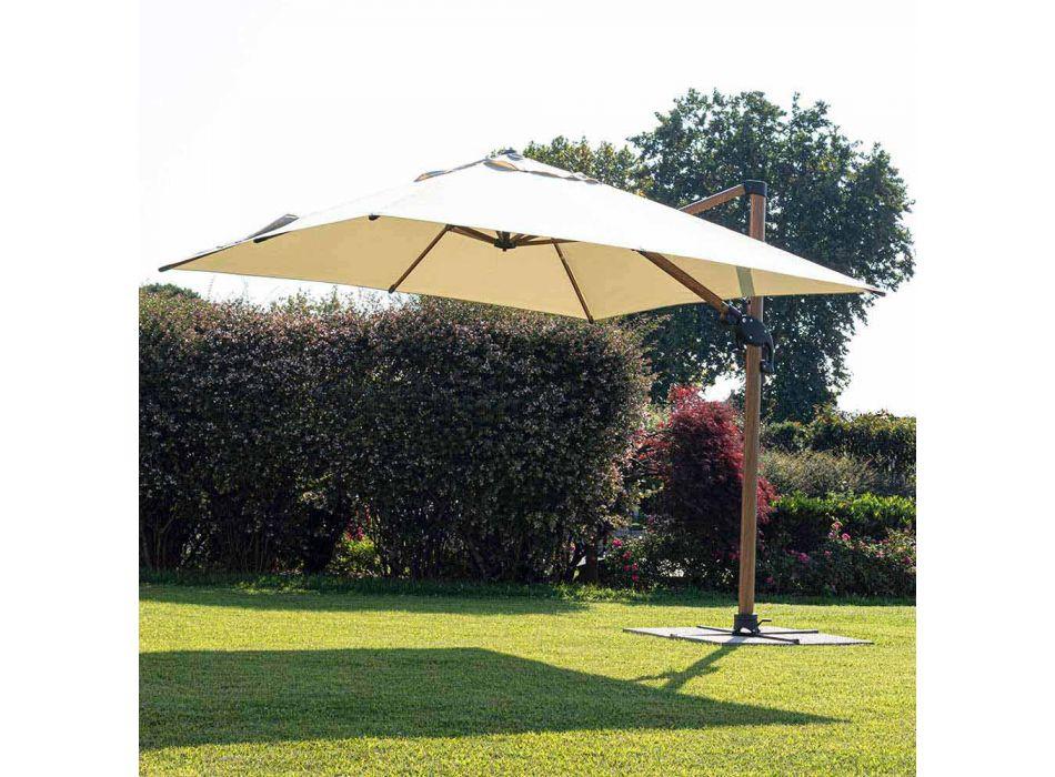 3x4m trädgårdsparaply i aluminium och polyester, Homemotion - Marco