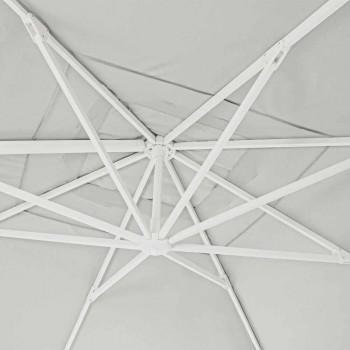 4x4 trädgårdsparaply med naturfärgad polyesterstyg - Fasma