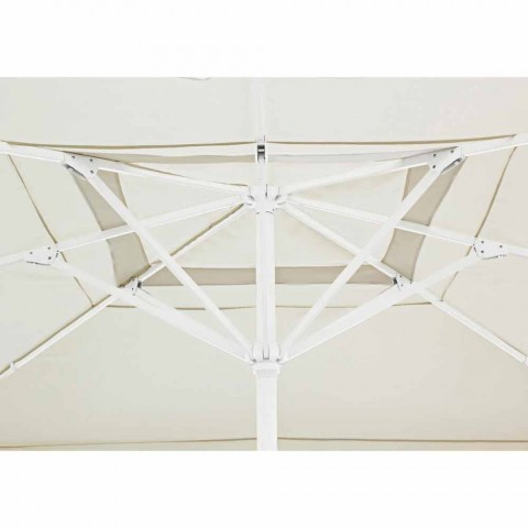 4x4 trädgårdsparaply med polyesterduk och stålbotten - Nastio