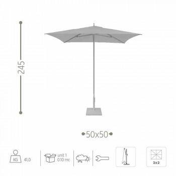 Modernt trädgårdsparaply i tyg och stål 2x2 m - Apollo av Talenti
