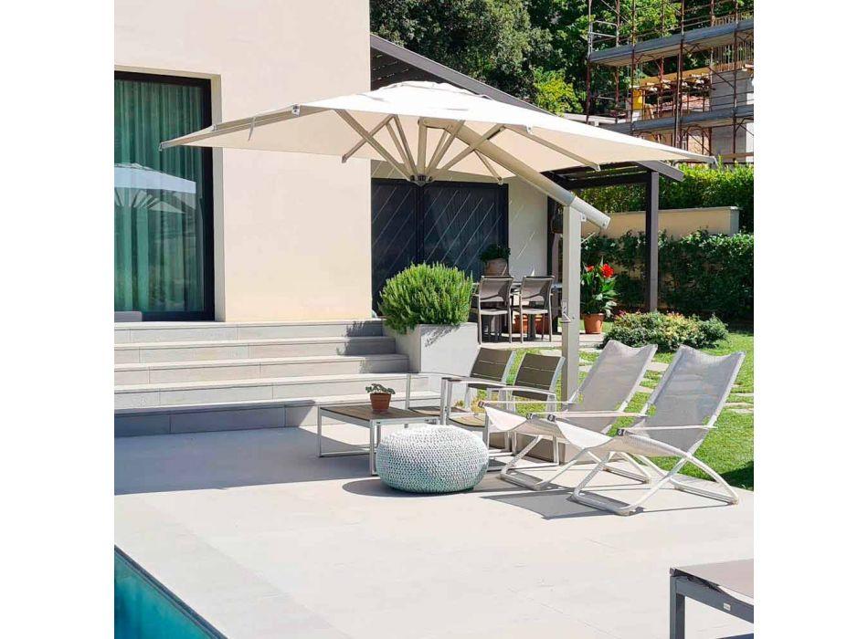Paraply i aluminium med vit eller antracit arm 350x350 cm - Lapillo