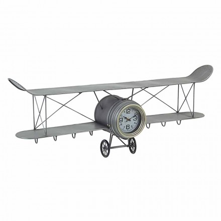 Flygplanformad väggklocka i stål och glas Homemotion - Plano