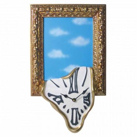 Väggklocka med fotoram i harts Tillverkad i Italien - Bigno