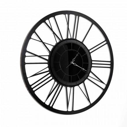 Väggklocka för modern design järnspegel tillverkad i Italien - Gioele