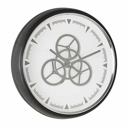 Väggklockadiameter 50 cm i stål och glas Homemotion - Severio