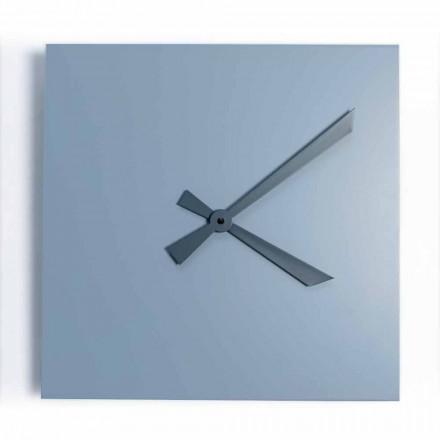 Industriell och modern fyrkantig väggklocka av italiensk design - Titan