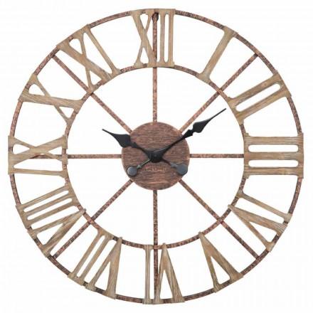 Modern väggklockdiameter 71,5 cm i järn och MDF - kadaver