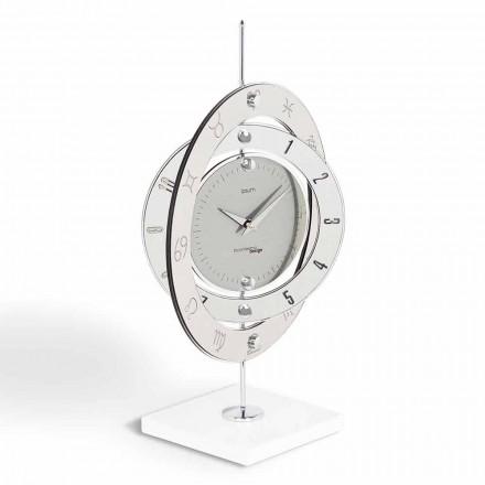 Clock modern design bord Pluto, tillverkad i Italien