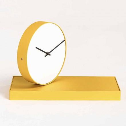 Vridbar bordsklocka med stålspegel tillverkad i Italien - förtjänstfull