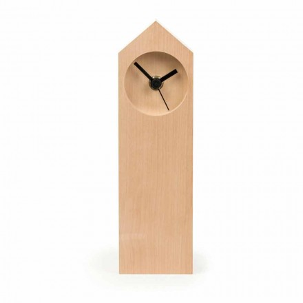 Modern evaporated Maple Wood Table Clock Made in Italy - Maple