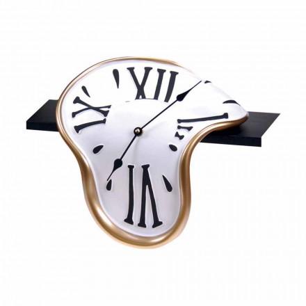 Bordsklocka i handdekorerat harts tillverkat i Italien - Corin