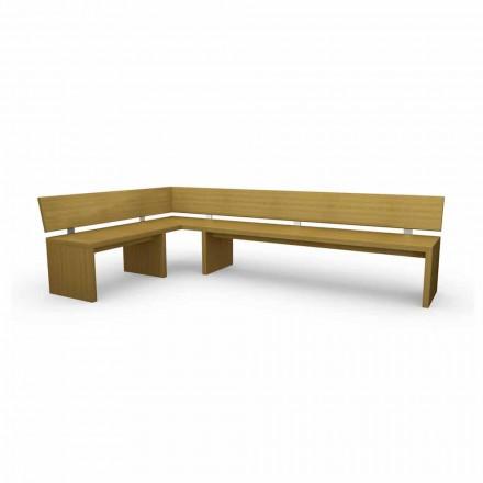 Corner design bänk i ek, gjord i Italien, godis