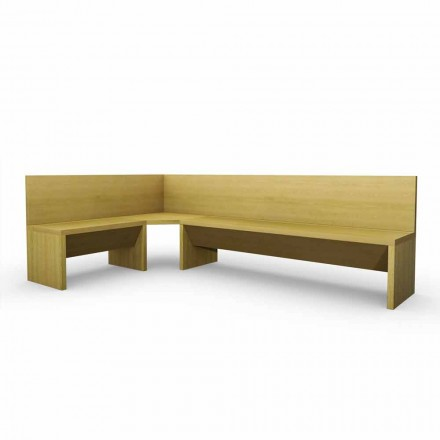 Corner bänk i ek trä med modern design Cassy behållare
