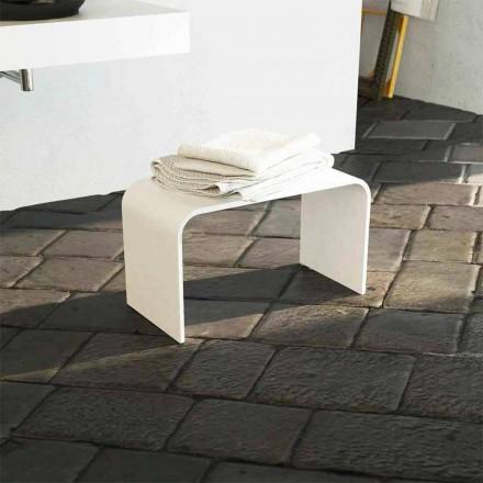 Lång badbänk i modern design producerade 100% i Recanati, Italien