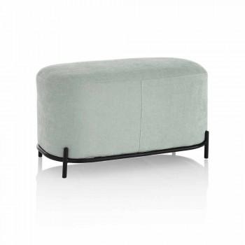 Bänk för vardagsrum eller sovrum i Mint Green Design Fabric - Ambrogia