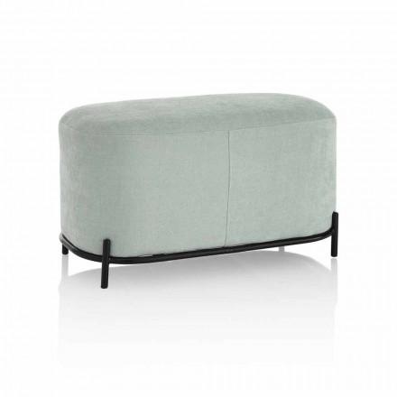 Bänk för vardagsrum eller sovrum i tyg med modern design - Ambrogia