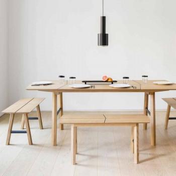 Bänk för modern design i ask med fanerad sits - Andria