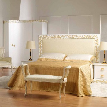 Bänk Mat klassisk design elfenben med guld dekorationer Tyler