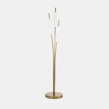 3 lampor Golvlampa i mässing och glas Modern elegant design - Typha av Il Fanale