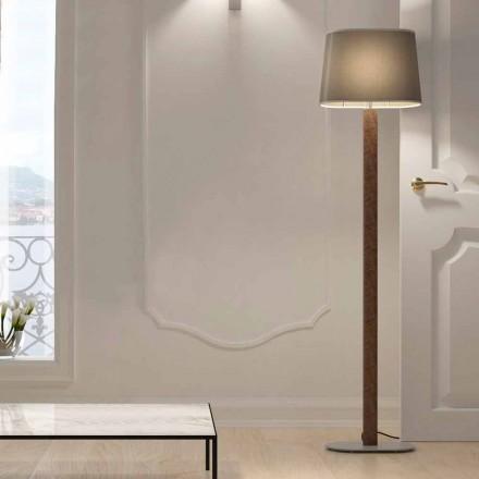 Golvlampa i modern design i metall med lampskärm av tyg Made in Italy - Jump