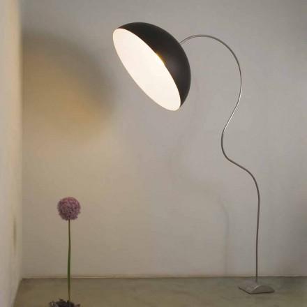 Moderna H210cm golvlampa In-es.artdesign Halvmånefärgad nebulit